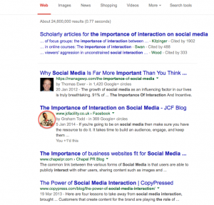 Google Authorship in the SERPS - Google+ image in the search results