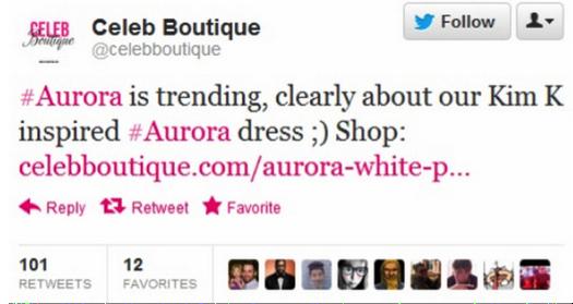 @CelebBoutique Tweet