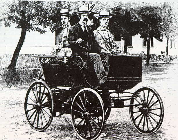 One of the first petrol powered cars!