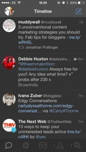 Tweetbot scrennshot on iOS7 for iPhone