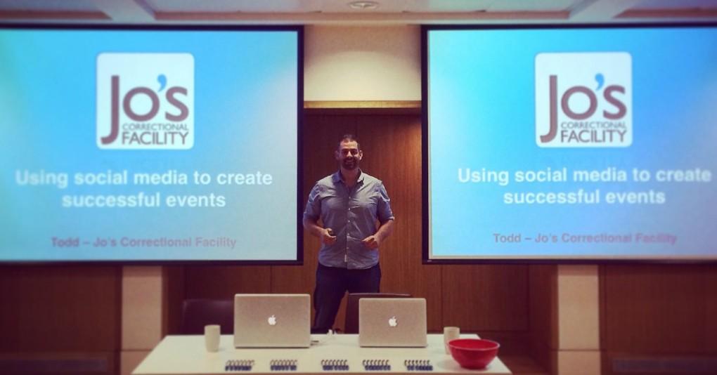 Todd training social media in Oxford University