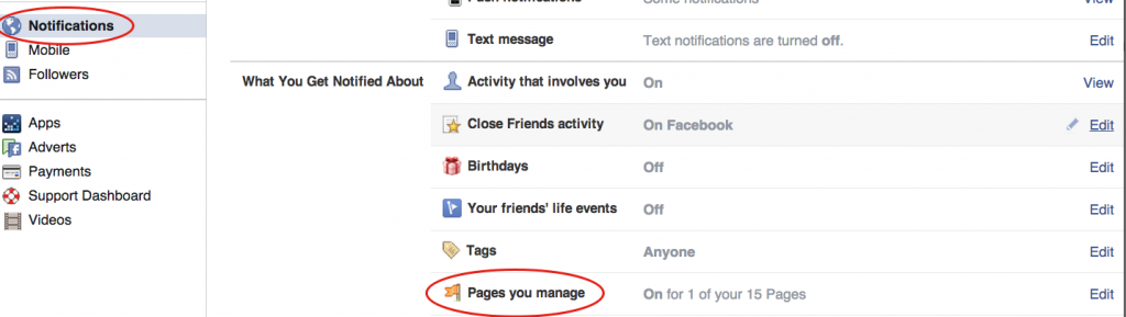 Stop getting Page notification on your personal profile
