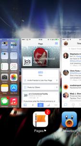 iPhone mulit-tasking home button
