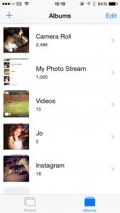 Photostream on iPhone