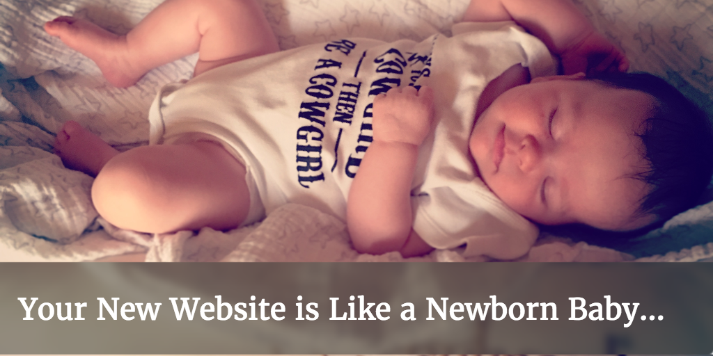 Why your new website is like a newborn baby