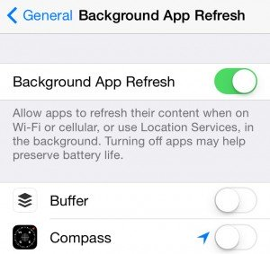 Background App Refresh on iOS7