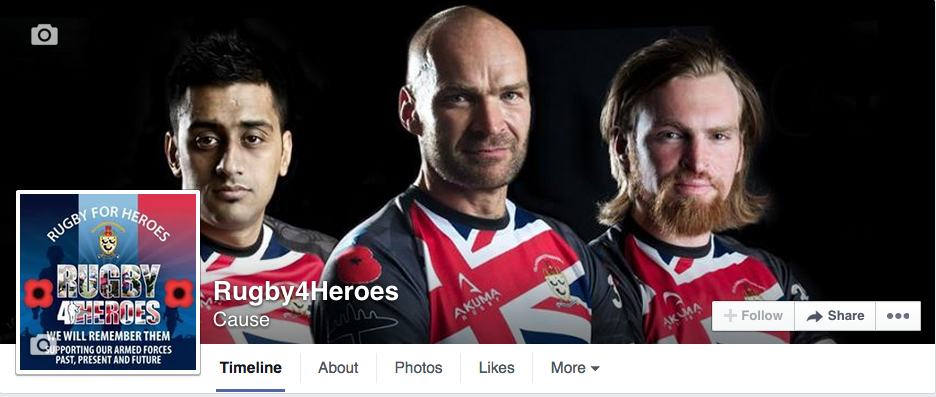 Facebook Page for Rugby4Heroes