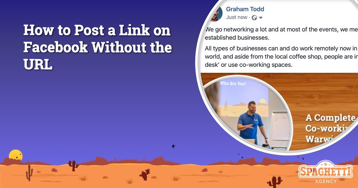 How to Post a Link on Facebook Without the URL