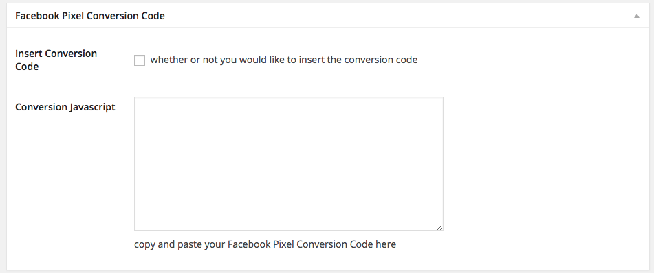 Facebook Conversion Pixels on WordPress