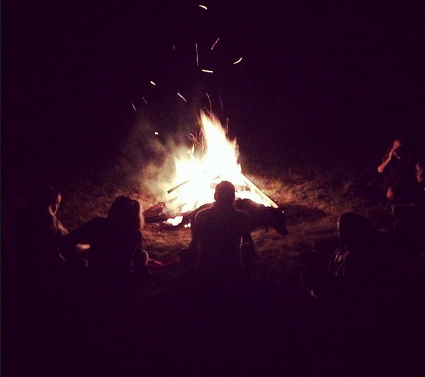 Telling stories around the campfire