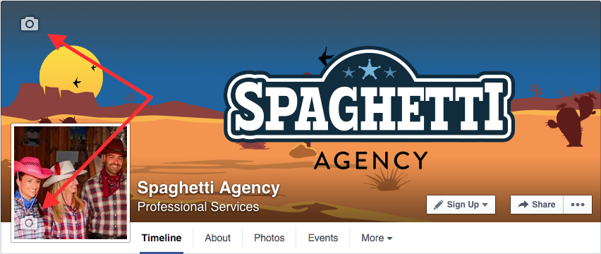 Changing your Facebook Page artwork and profile picture
