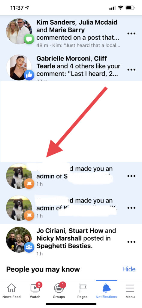 Adding an amind to Facebook - mobile app