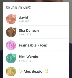 Showing your hearts on Periscope