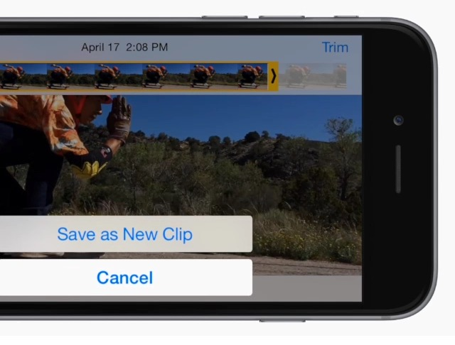 Trim video clips on iPhone