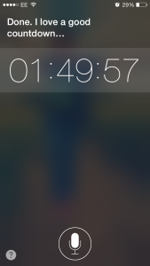 Ask Siri to set a timer