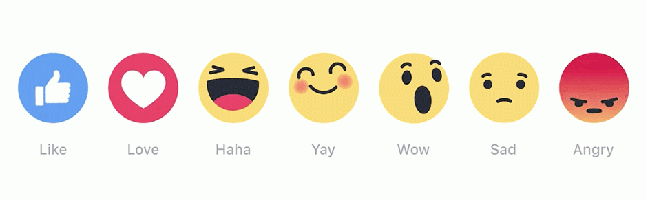 new Facebook reactions for business Pages