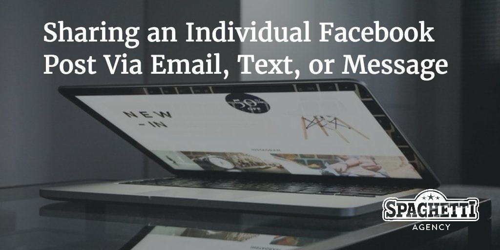 Sharing an Individual Facebook Post Via Email, Text, or Message