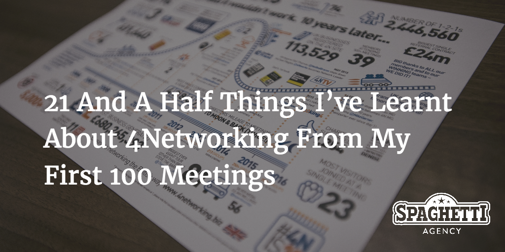 21 And A Half Things I've Learnt About 4Networking From My First 100 Meetings