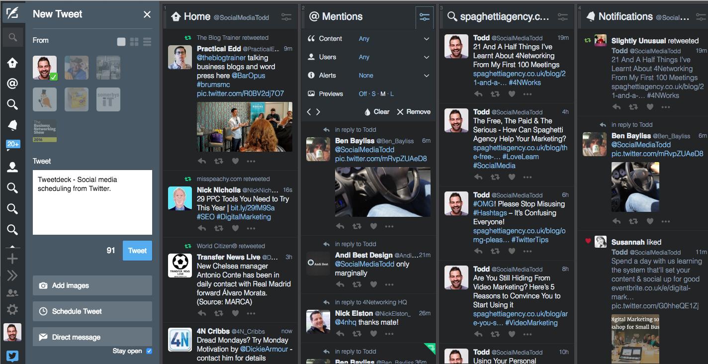 Tweetdeck  - Twitter scheduling tool