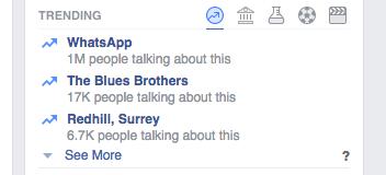 Facebook news in your timeline screenshot