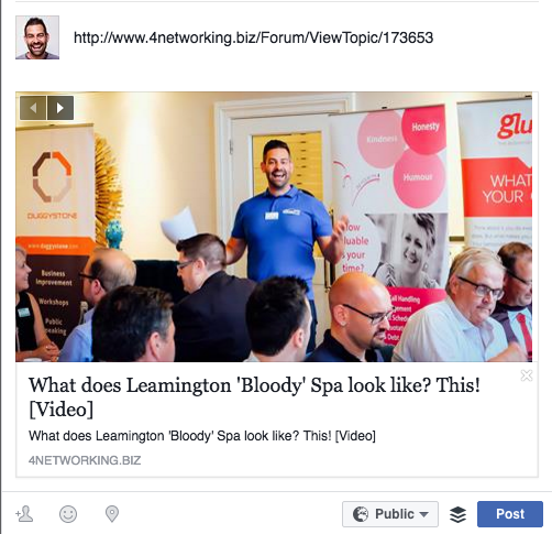 Getting Facebook to show the right image in your links an example of a good post