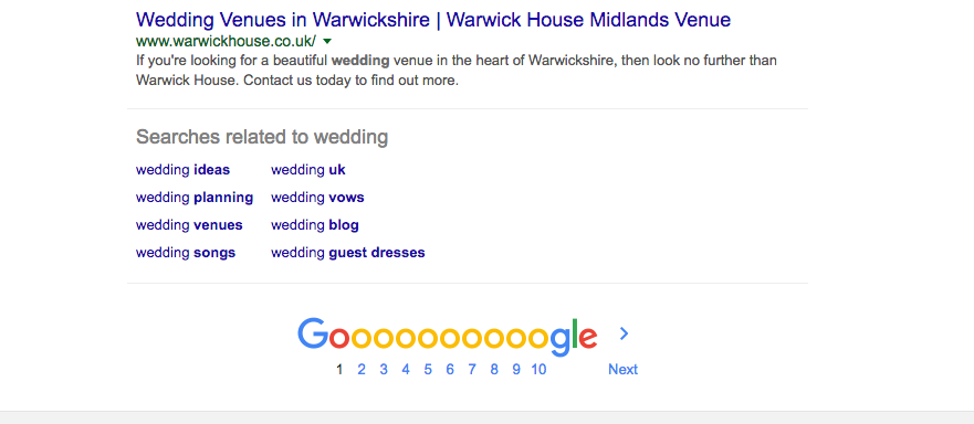 Google's suggested search can help with blogging idea