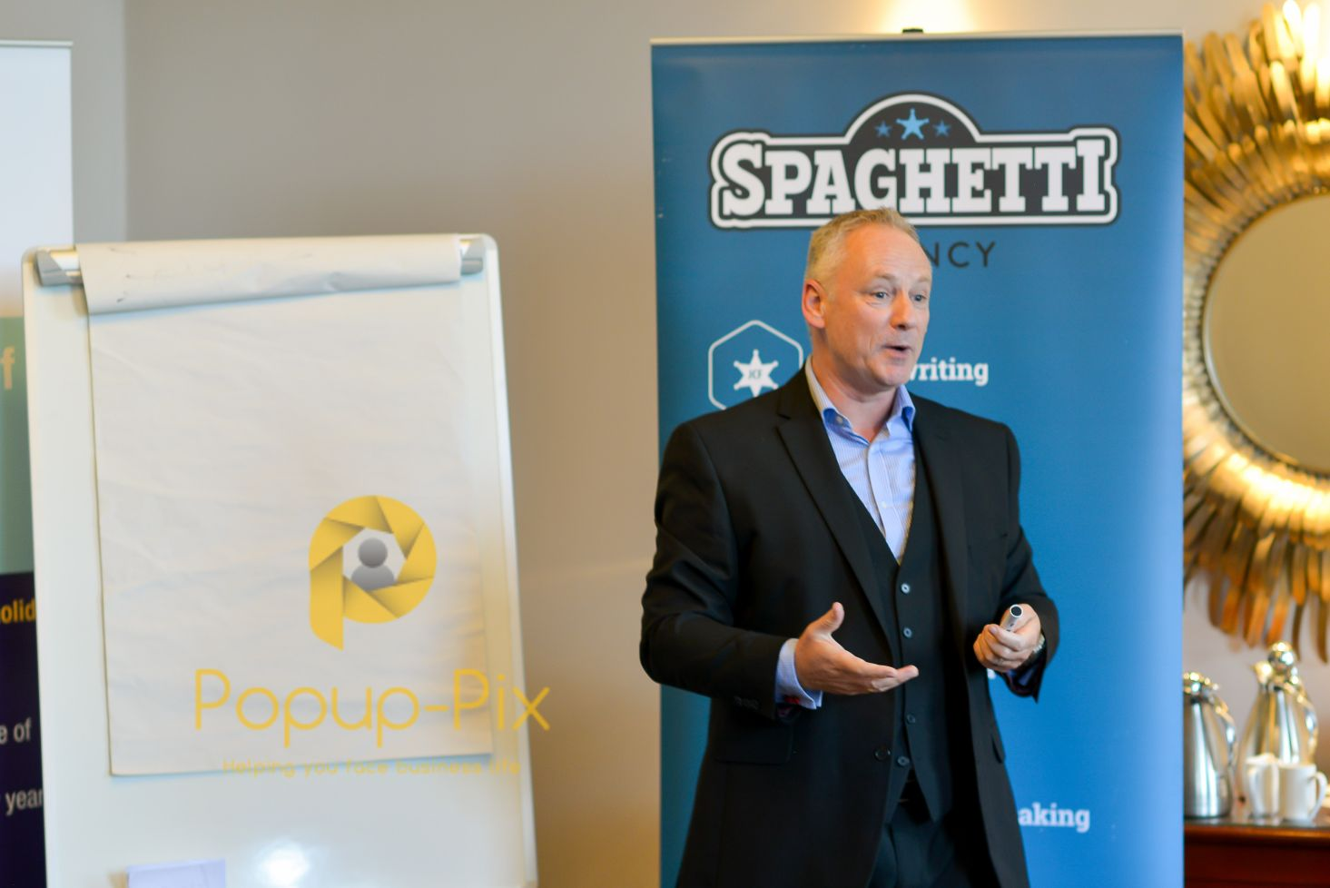 Ian Dickson, speaking at Leamington Evening networking