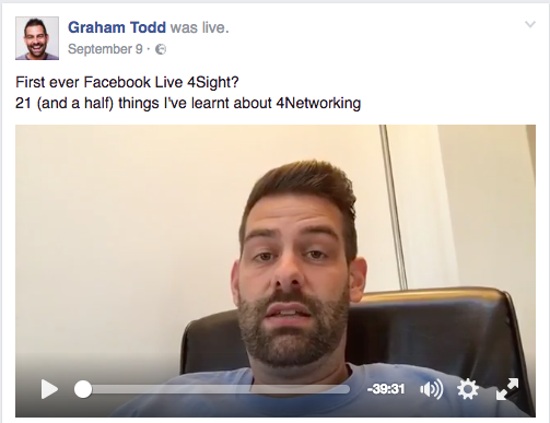 Facebook Live - SocialMediaTodd - 4Networking
