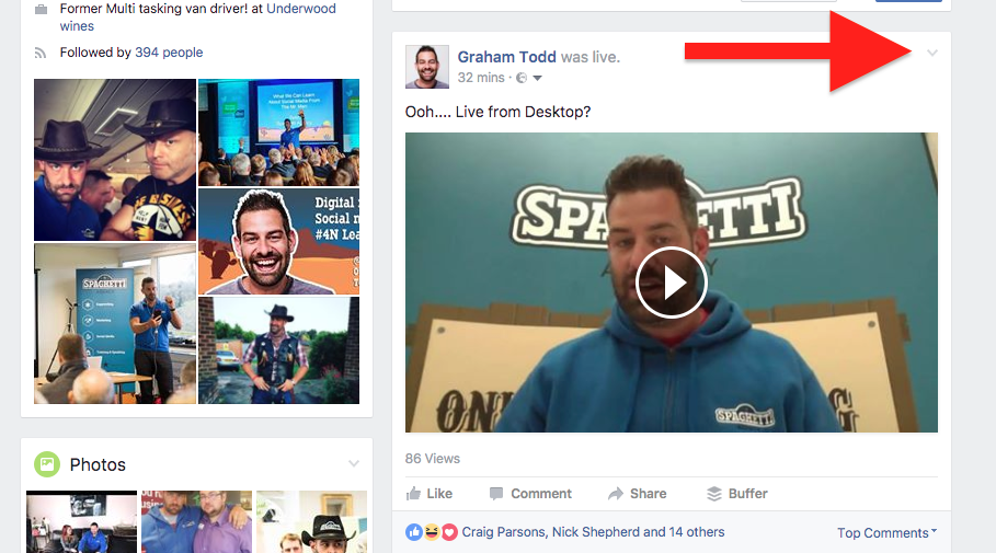 How to share a Facebook Live video