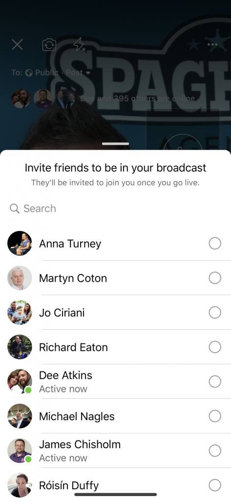 Go live with a friend on Facebook live in 2020
