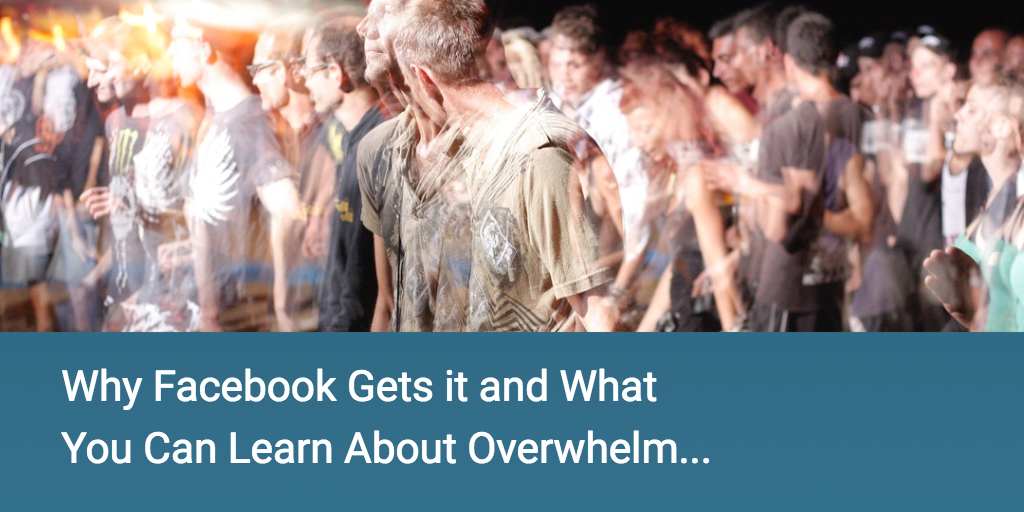 Why Facebook Gets it and What You Can Learn About Overwhelm...