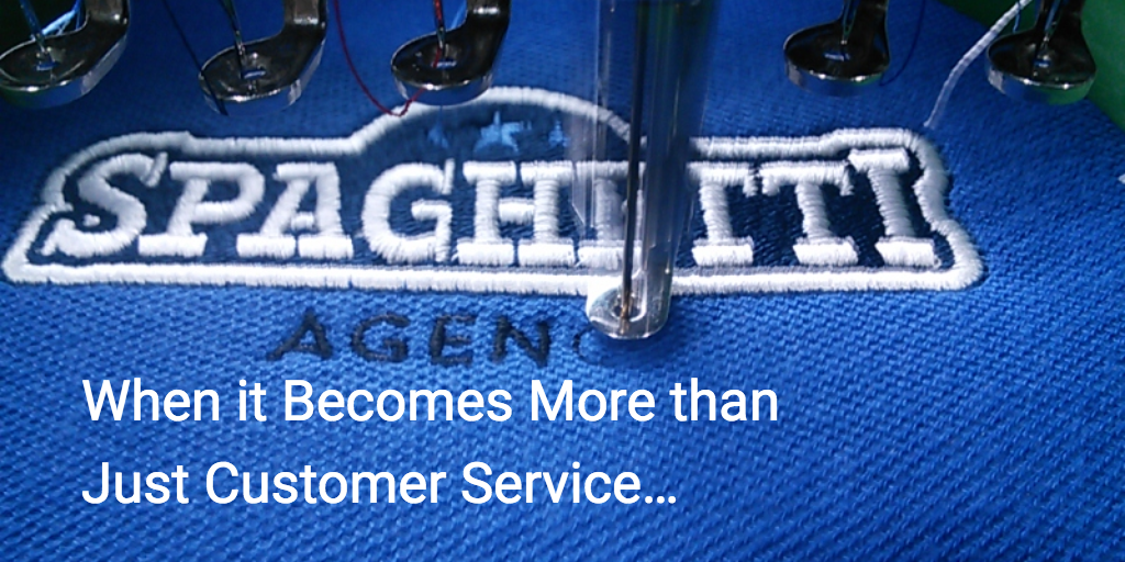 When it Becomes More than Just Customer Service…