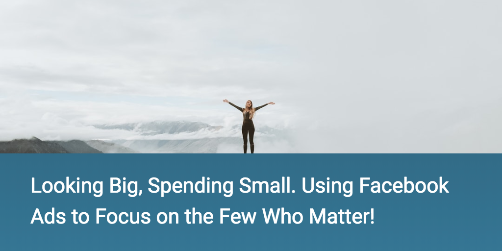 Looking Big, Spending Small. Using Facebook Ads to Focus on the Few Who Matter