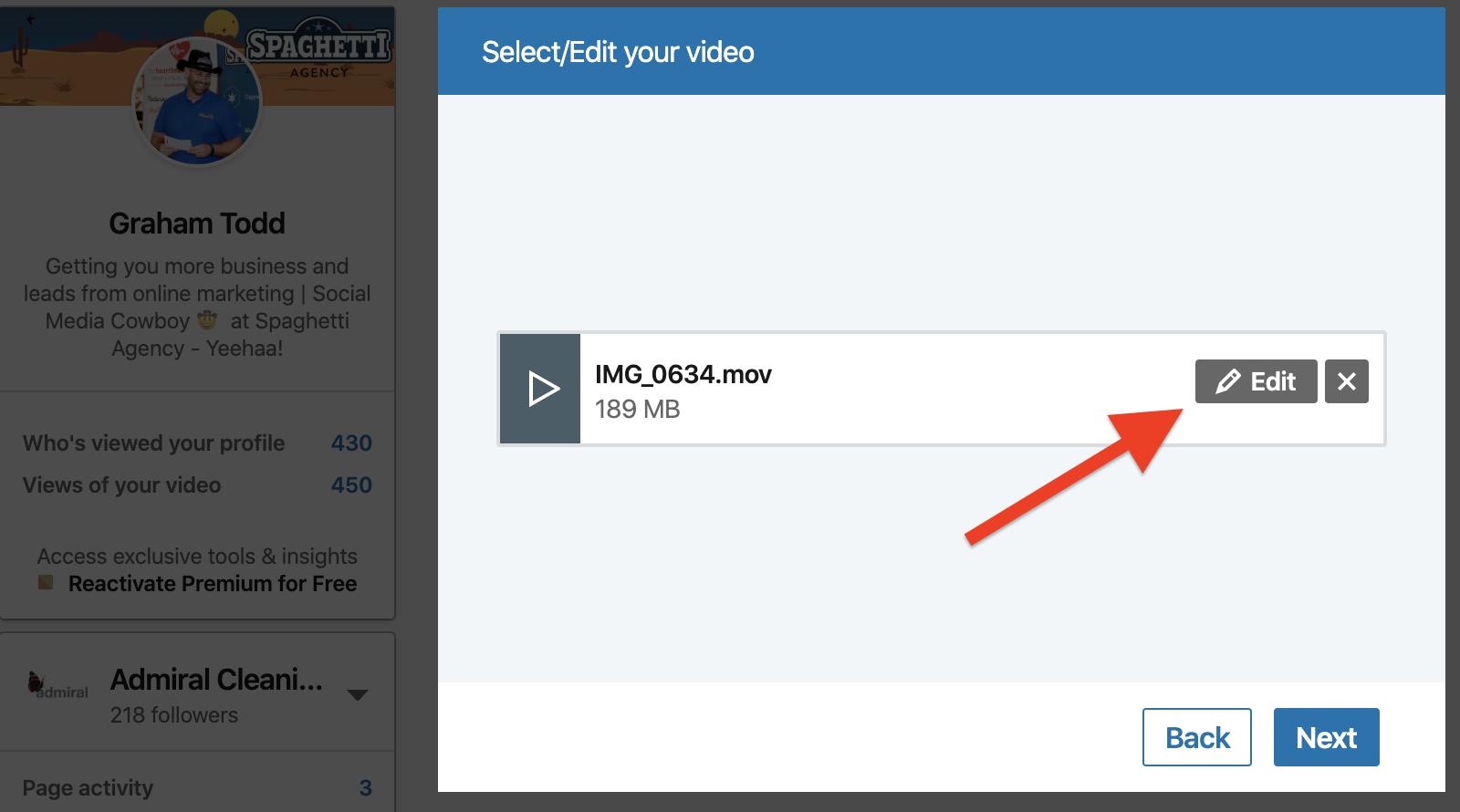 Adding SRT Captions to LinkedIn videos